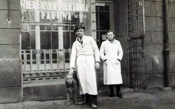 Cukiernia Muszelka Słupsk ul. Stalina obecna ul. Tuwima 1948 r.